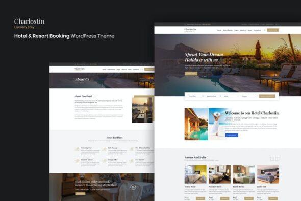 قالب وردپرس رزرواسیون هتل Charlostin - Hotel & Resort Booking WordPress