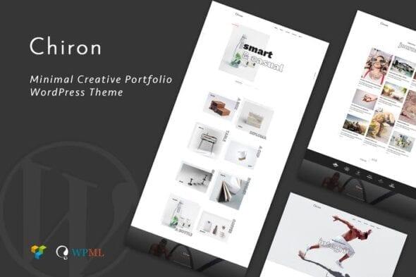 پوسته وردپرس پورتفلیو Chiron | Creative Portfolio WordPress Theme
