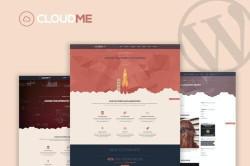 پوسته وردپرس هاستینگ Cloudme Host - WordPress Hosting Theme