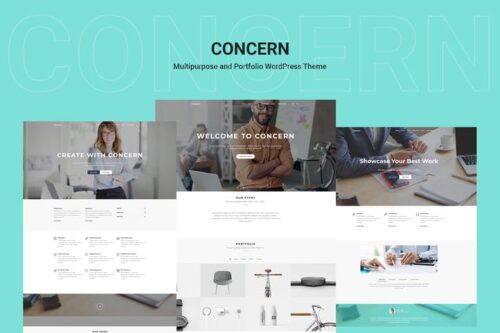 پوسته وردپرس چندمنظوره Concern - Multipurpose and Portfolio WordPress