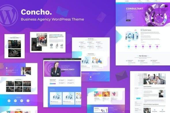قالب وردپرس خدمات مشاوره تجاری Concho - Consulting Service WordPress Theme