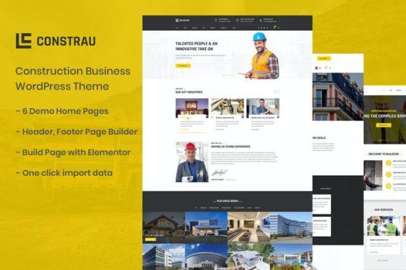 پوسته وردپرس ساختمانی Constrau - Construction Business WordPress Theme