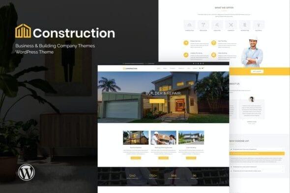 قالب وردپرس شرکتی Construction - Business & Building Company WordPre