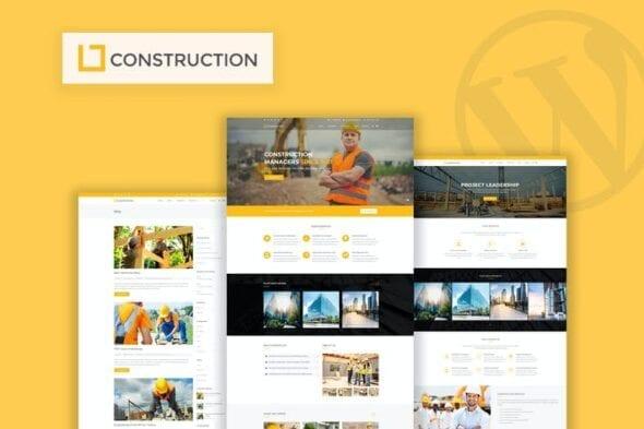 قالب وردپرس تجاری Construction - Business & Building WordPress Theme