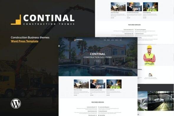 قالب وردپرس ساخت و ساز Continal - Construction & Business WordPress Theme