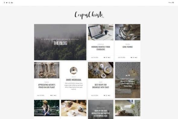 قالب وردپرس بلاگ CorpusChristi - Modern Blog WordPress Theme