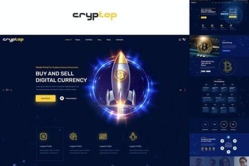 قالب وردپرس ارز دیجیتال CrypTop - ICO Landing and CryptoCurrency WordPress
