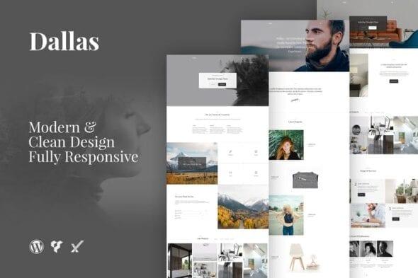 پوسته وردپرس پورتفلیو Dallas Minimal Portfolio Business WordPress Theme