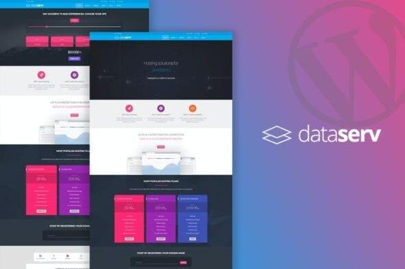 قالب وردپرس هاستینگ Dataserv - Professional Hosting WordPress Theme