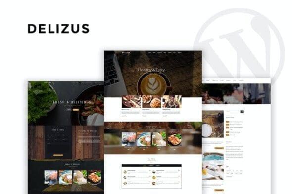 پوسته وردپرس کافه رستوران Delizus | Restaurant Cafe WordPress Theme