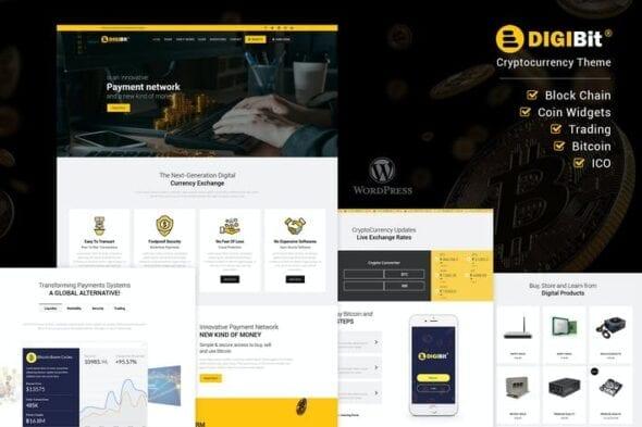 قالب وردپرس ارز دیجیتال DigiBit - Cryptocurrency Mining WordPress Theme