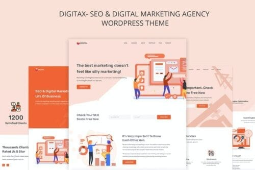 پوسته وردپرس بازاریابی دیجیتال و سئو Digitax - SEO & Digital Marketing Agency Themes