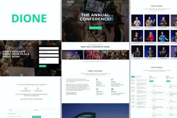 پوسته وردپرس کنفرانس و همایش Dione – Conference & Event WordPress Theme
