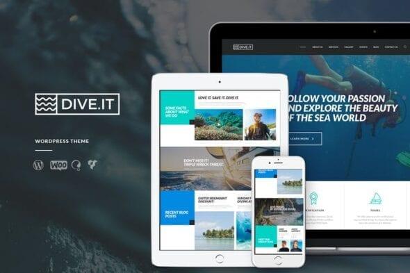 قالب وردپرس غواصی DiveIt - Scuba Diving School, Sea Travel