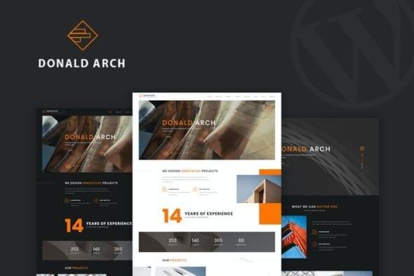 قالب وردپرس معماری Donald Arch - Creative Architecture WordPress Them