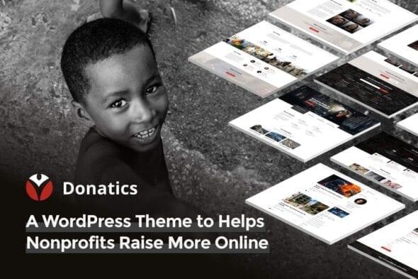 قالب وردپرس خیریه Donatics - Charity & Fundraising WordPress Theme