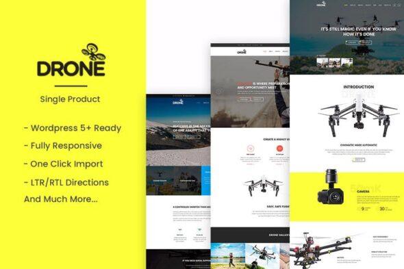 پوسته وردپرس تجاری Drone - Single Product WordPress Theme