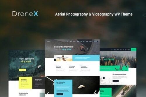 قالب وردپرس عکاسی و فیلمبرداری DroneX