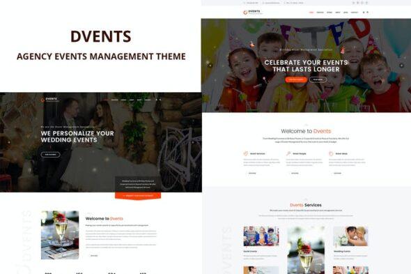 پوسته وردپرس تشریفات مجالس Dvents - Events Management Agency Theme