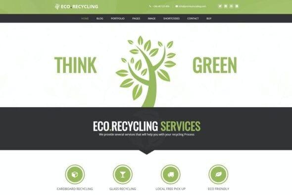 قالب وردپرس طبیعت و بوم شناسی Eco Recycling - Ecology & Nature WordPress Theme