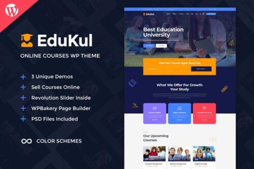 قالب وردپرس آموزش آنلاین Edukul | Online Courses WordPress Theme