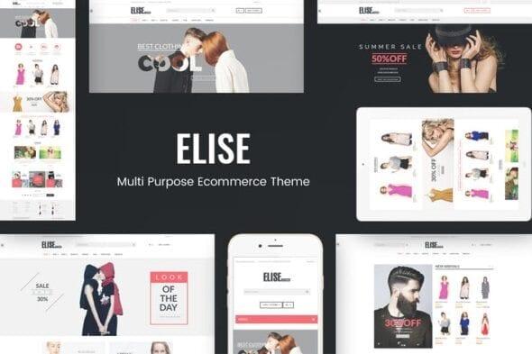 قالب وردپرس فروشگاه Elise - Fashion WooCommerce WordPress Theme