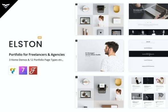 پوسته وردپرس پورتفلیو Elston - Portfolio for Freelancers & Agencies