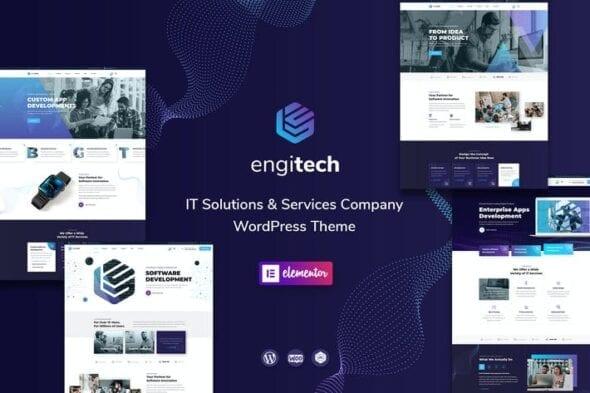 پوسته وردپرس فناوری اطلاعات Engitech - IT Solutions & Services WordPress Theme