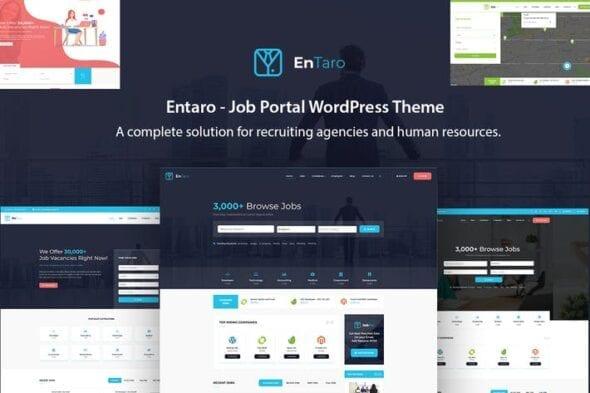 قالب وردپرس استخدام و کاریابی Entaro - Job Portal WordPress Theme