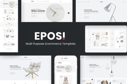 قالب وردپرس فروشگاهی Eposi - Minimal Theme for WooCommerce WordPress