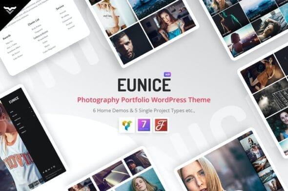 قالب وردپرس نمونه کار Eunice - Photography Portfolio WordPress Theme