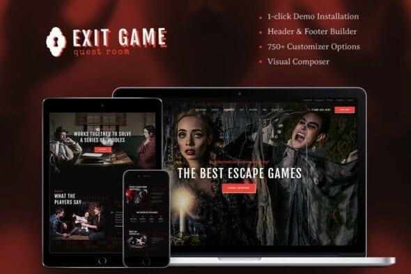 قالب وردپرس بازی Exit Game