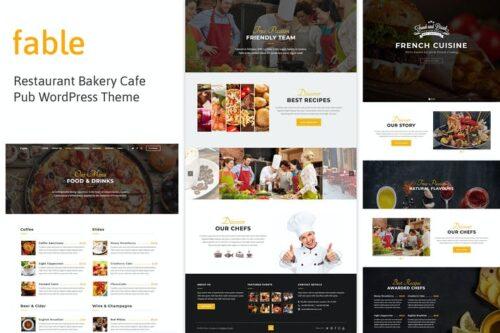 قالب وردپرس رستوران Fable - Restaurant Bakery Cafe Pub WordPress Theme