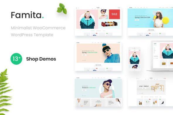 پوسته وردپرس فروشگاهی Famita - Minimalist WooCommerce WordPress Theme