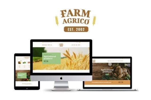 قالب وردپرس کشاورزی Farm Agrico - Agricultural Business WP Theme