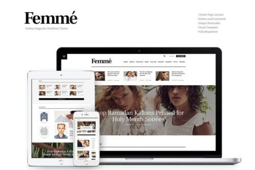 قالب وردپرس مجله و بلاگ Femme - Online Magazine & Fashion Blog WP Theme