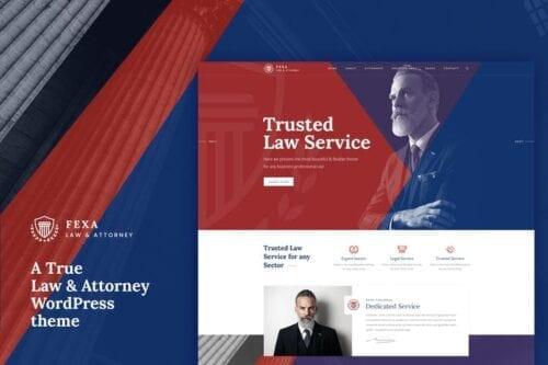 قالب وردپرس حقوقی و وکالت Fexa- Lawyer & Attorney WordPress Theme
