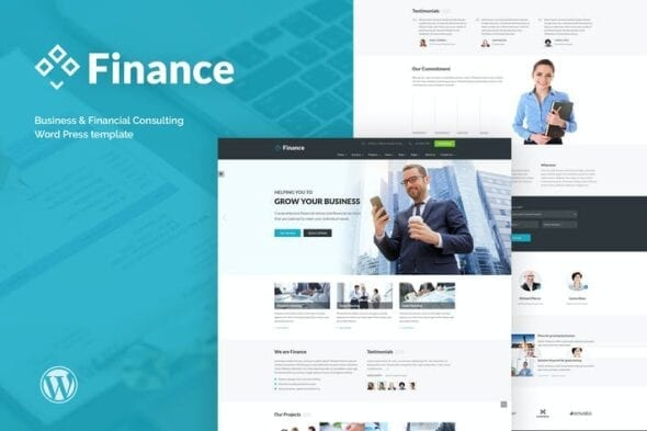 قالب وردپرس تجاری Finance - Business & Financial, Broker, Consulting