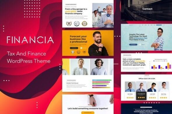 پوسته وردپرس مالیات Financia - Tax and Finance WordPress Theme