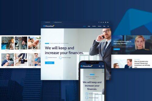 قالب وردپرس شرکتی Fincorbus - Finance Corporate WordPress Theme