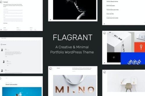 قالب وردپرس پورتفلیو Flagrant - A Creative Portfolio WordPress Theme Fo