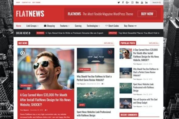قالب وردپرس مجله FlatNews – Responsive Magazine WordPress Theme