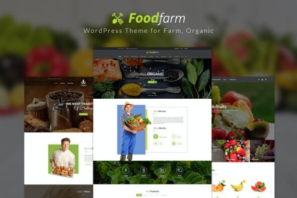 پوسته وردپرس کشاورزی ارگانیک FoodFarm – WordPress Theme for Farm, Organic