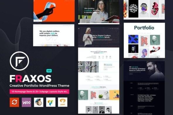 پوسته وردپرس پورتفلیو Fraxos - Creative Portfolio WordPress Theme Typ