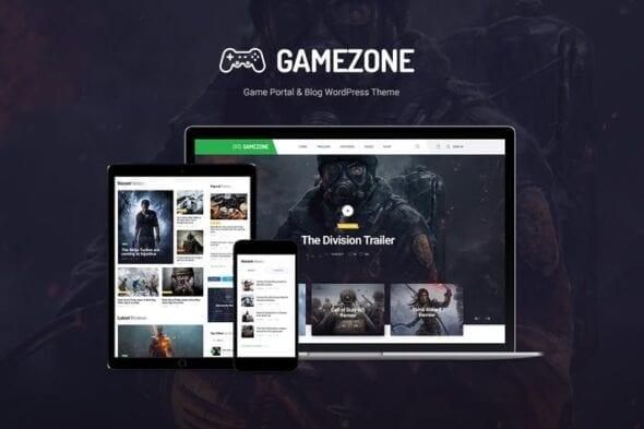 قالب وردپرس بازی و گیم Gamezone
