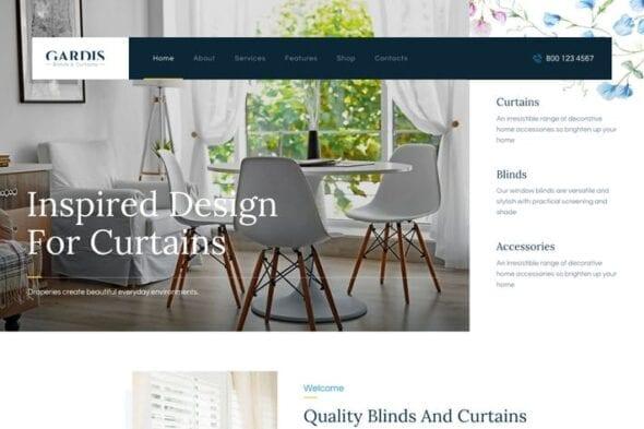 پوسته وردپرس تجاری Gardis   Blinds and Curtains Studio & Shop WP