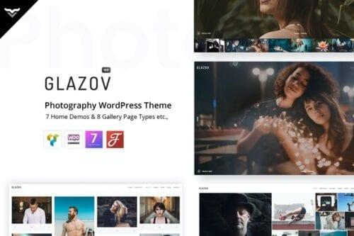 قالب وردپرس عکاسی Glazov - Photography WordPress Theme