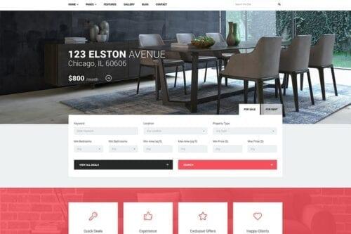 پوسته وردپرس آژانس املاک Good Homes - Real Estate WordPress Theme