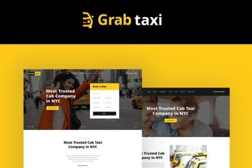 قالب وردپرس تاکسی آنلاین Grab Taxi