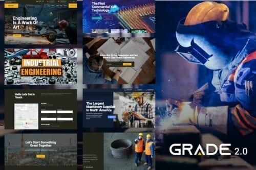 قالب وردپرس صنعت مهندسی Grade - Engineering industrial WP Theme
